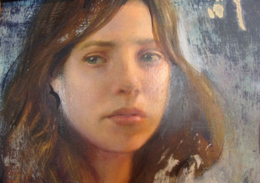Portret de adolescenta, cadou pentru fetite de 14 ani, portret pictat la comanda, portrete bust, portret dupa fotografie, portret de copil dupa poza