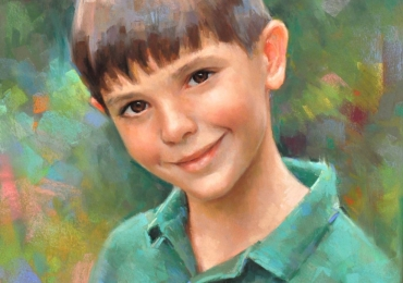 Portret de baiat, portret cu copii, portret pictat la comanda, portrete bust, portret dupa fotografie, portret de copil dupa poza