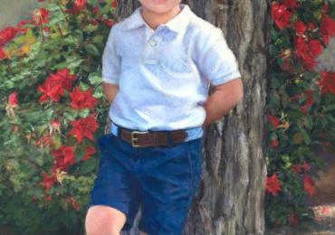 Portret de baietel, portrete la comanda, Tablou pictat dupa poza, portret de copil