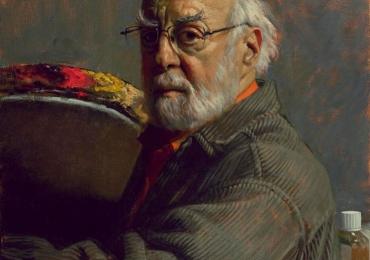 Portret de barbat cu parul si barba albe, Portret cu bunici, portret cu batrani, portret cu parinti