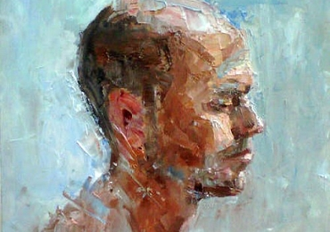 Portret de barbat pictat in cutit portret de sot, portret de adolescent, portret de tata, portret de iubit, portret de prieten