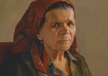 Portret de bunica.Portret la comanda dupa fotografia Dvs. Pret portret bust