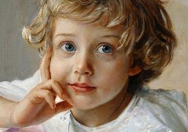 Portret de copil la comanda, pictat manual, pret manopera