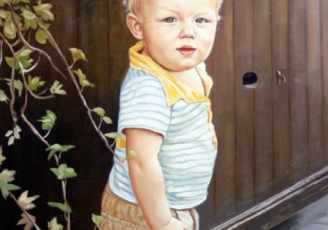 Portret de copil pictat dupa poza copilului tau, portret pictat la comanda, portrete bust, portret dupa fotografie, portret de copil dupa poza