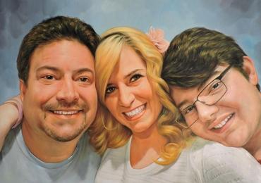 Portret de familie, portret parinti si copii, portret cu mama tata si fiica, Idei de cadouri pentru craciun
