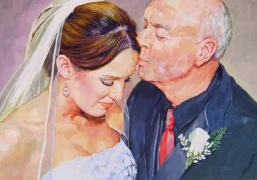 Portret de familie, portret parinti si copii, portret tata si fiica, portret de mireasa