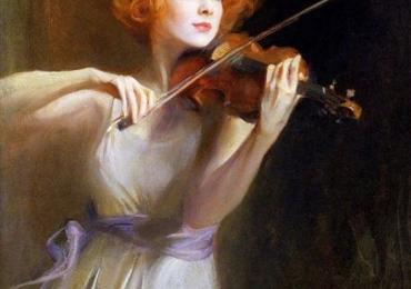 Portret de femeie, Violonista. Portrete figurative. Portret la comanda.