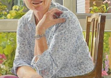 Portret de femeie asezata pe scaun, Portret cu bunici, portret cu batrani, portret cu parinti