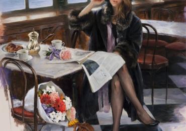 Portret de femeie, cadou personalizat. Portrete figurative. Portret la comanda