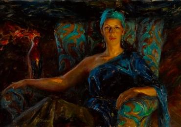 Portret de femeie, calitate premium. Portrete figurative. Portret la comanda.