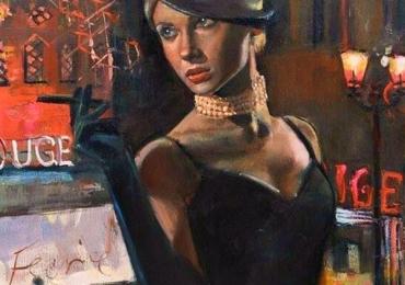 Portret de femeie cu palarie, Idei cadouri potrivite pentru ea, portrete la comanda, Tablou pictat pe panza