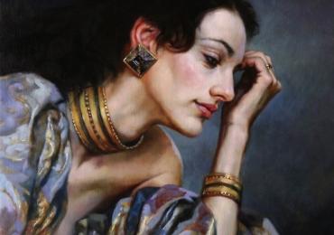 Portret de femeie eleganta. Portrete figurative. Portret la comanda. portret bust