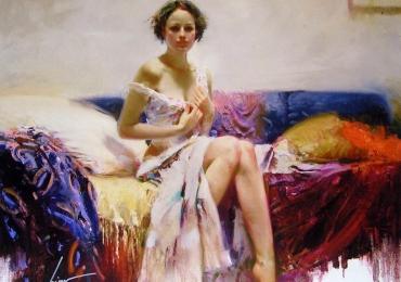 Portret de femeie pictat manual. Portrete figurative. Portret la comanda.
