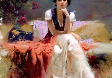 Portret de femeie pictura pe panza. Portrete figurative. Portret la comanda