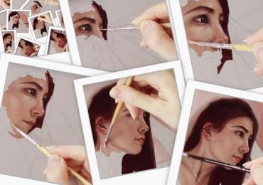 Portret de femeie, portret de adolescenta, Comenzi tablouri personalizate, portrete la comanda, Tablouri pictate pe panza