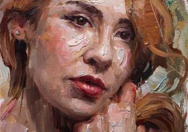 Portret de femeie tanara, Cadouri femei, Tablouri pictate cu rama sau fara rama, Tablouri la comanda pictor profesionist, Tablouri pictate pe panza,  Picturi tablouri la comanda, portrete la comanda