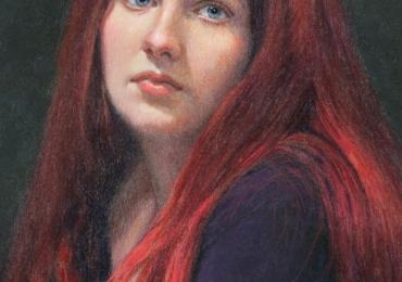 Portret de femeie tanara cu parul roscat, portrete cu femei, portrete la comanda