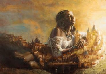 Portret de femeie tanara, portrete cu femei, portrete la comanda, Idei de cadouri pentru femei, portrete la comanda, Tablou pictat manual