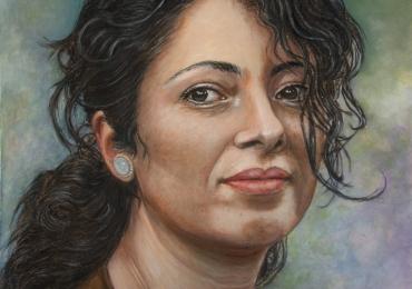 Portret de femeie tanara, portrete cu femei, portrete la comanda, portrete personalizatre cu femei