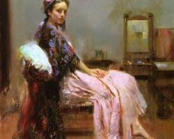 Portret de femeie ulei pe panza. Portrete figurative. Portret la comanda.