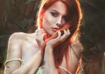 Portret de femeie. Adorabila. Portrete figurative. Portret bust.