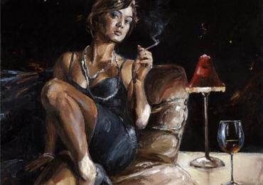 Portret de femeie. In asteptare. Portrete figurative. Portret la comanda.