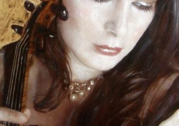 Portret de femeie. Violonista. Portrete figurative.