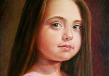 Portret de fetita, portret de copil, Comenzi tablouri personalizate, portrete la comanda, Tablouri pictate personalizate