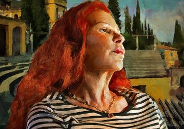 Portret de mama, portret de femeie, portrete cu femei, portret de bunica