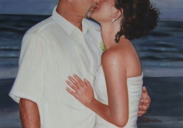 Portret de mireasa, portret de nunta, portrete cupluri, portrete cu indragostiti la malul marii