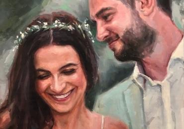 Portret de nunta, portret de indragostiti, Cadouri superbe si utile, portrete la comanda, Tablou pictat pe panza