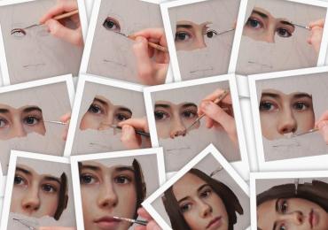 Portret de prietena,Tablouri pictate portrete, Tablouri pictate personalizat