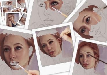 Portret de roscata, portrete la comanda, Tablouri pictate personalizate.