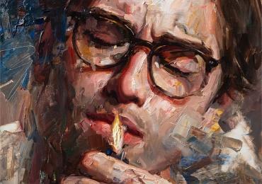 Portret dimensiune mare pentru living, portret de dimensiuni foarte mari, portrete pictate manual