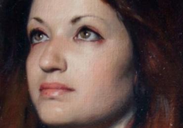 Portret din profil la comanda, cadou zi de nastere. Portret  Profil pictat manual