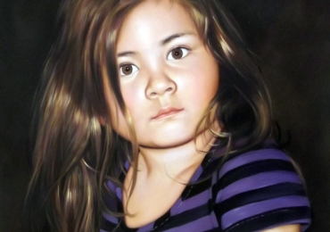Portret dupa poza copilului tau, portret cu copii, portret pictat la comanda, portrete bust, portret dupa fotografie, portret de copil dupa poza