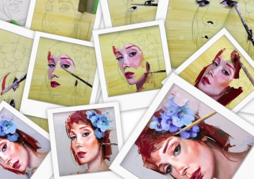 Portret femeie. Pictori profesionisti executam reproduceri dupa fotografie