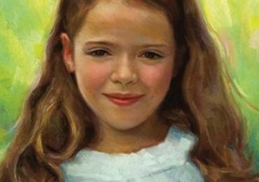 Portret impresionist cu copii, portret pictat la comanda, portrete bust, portret dupa fotografie, portret de copil dupa poza