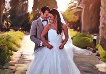 Portret in ulei, portrete la comanda, Tablouri pictate personalizate, portret de nunta pictat