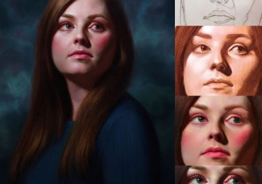 Portret la comanda, Portret de femeie. Portret la comanda dupa poza ta
