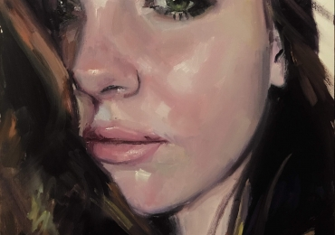 Portret la comanda, cadou zi de nastere personalizat. Portret pictat manual