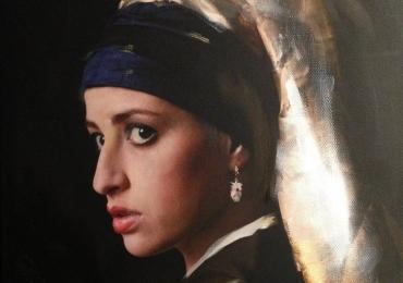 Portret la comanda dupa reproducere celebra. Portret de femeie. Portret