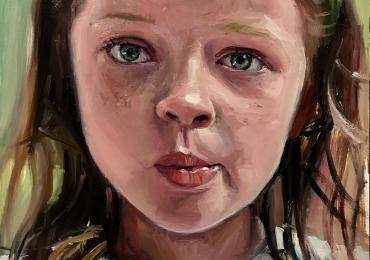 Portret la comanda pictat manual in ulei pe panza. Portret abstract. Portret bust
