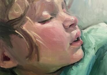 Portret la comanda pictat manual in ulei pe panza. Portrete cu copii. Portret