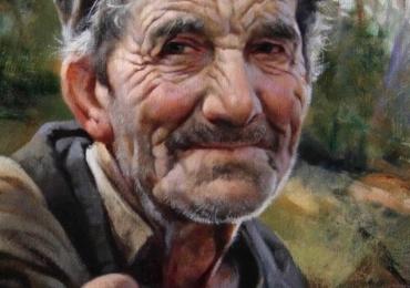 Portret la comanda, pictat manual, portret de bunic, pret manopera