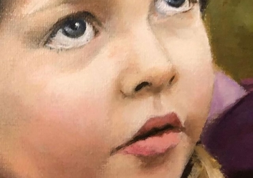 Portret la comanda, tablou pictat manual in ulei pe panza. Portret cadou inedit