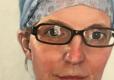 Portret la comanda, tablou pictat manual in ulei pe panza. Portret de femeie,