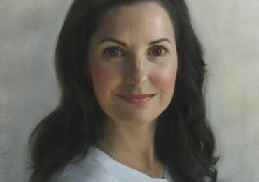 Portret la comanda, tablou pictat manual in ulei pe panza. Portret de sotie.