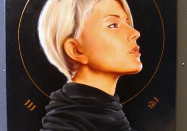 Portret modern cu femeie tanara, portrete cu femei, portrete la comanda,Idei cadouri femei, portrete la comanda, Tablou pictat manual in ulei