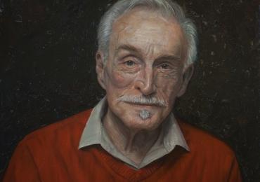 Portret, pictura tablou la comanda, fidel, Tablouri pictate manual, portret de barbat grizomat